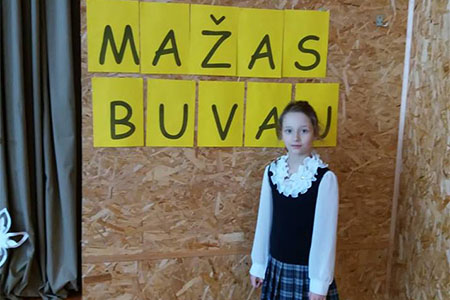 Sveikiname 1 klasės mokinę Emą Rybakovaitę