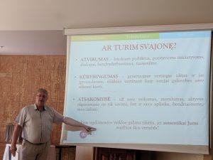 Nuotraukoje:G.Kazakevičius, UPC metodininkas. Nuotraukos autorius: R. Šnipienė, ŠAC direktoriaus pavaduotoja